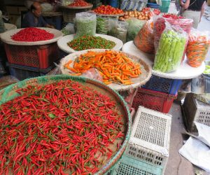 Thai chilis in a Bangkok marketplace