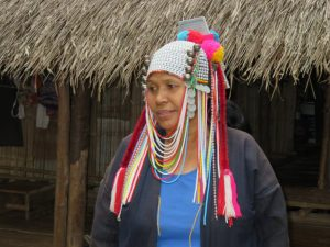 Woman of one of the Hill Tribes of Thailand