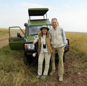 Rob and me on our latest adventure in Travels With Robby - an African safari.